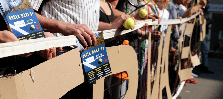 protest tennis climate